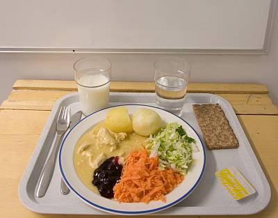 Finnish school lunch.